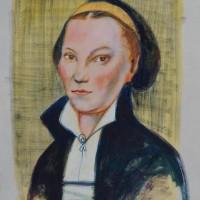 Katharina von Bora vorstudie 1